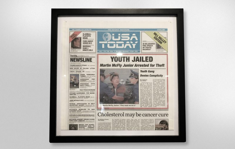 """""""Back to the Future"""" copy of USA Today"""