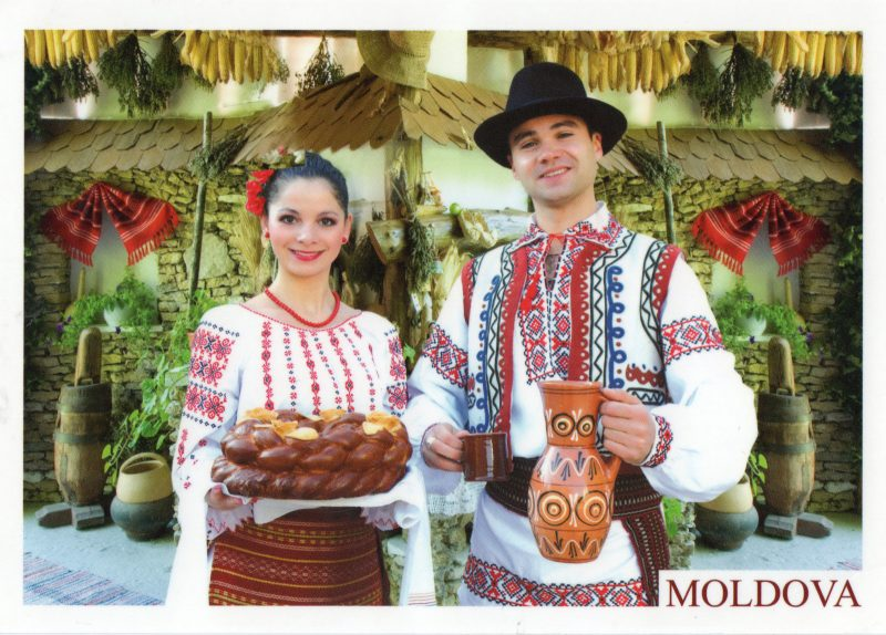 folk postcards moldova