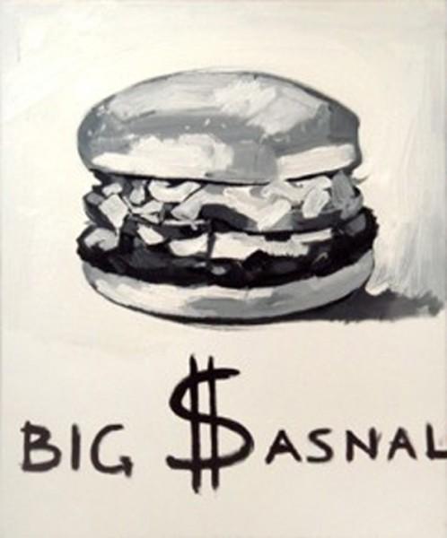"""The Krasnals, Whielki Krasnal: """"Big $asnal"""", olej, 2008. Fot. archiwum The Krasnals"""