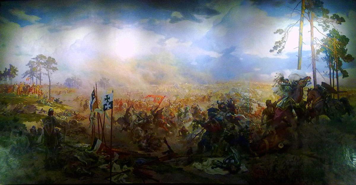 Panorama bitwy pod Grunwaldem – obraz Zygmunta Rozwadowskiego i Tadeusza Popiela.