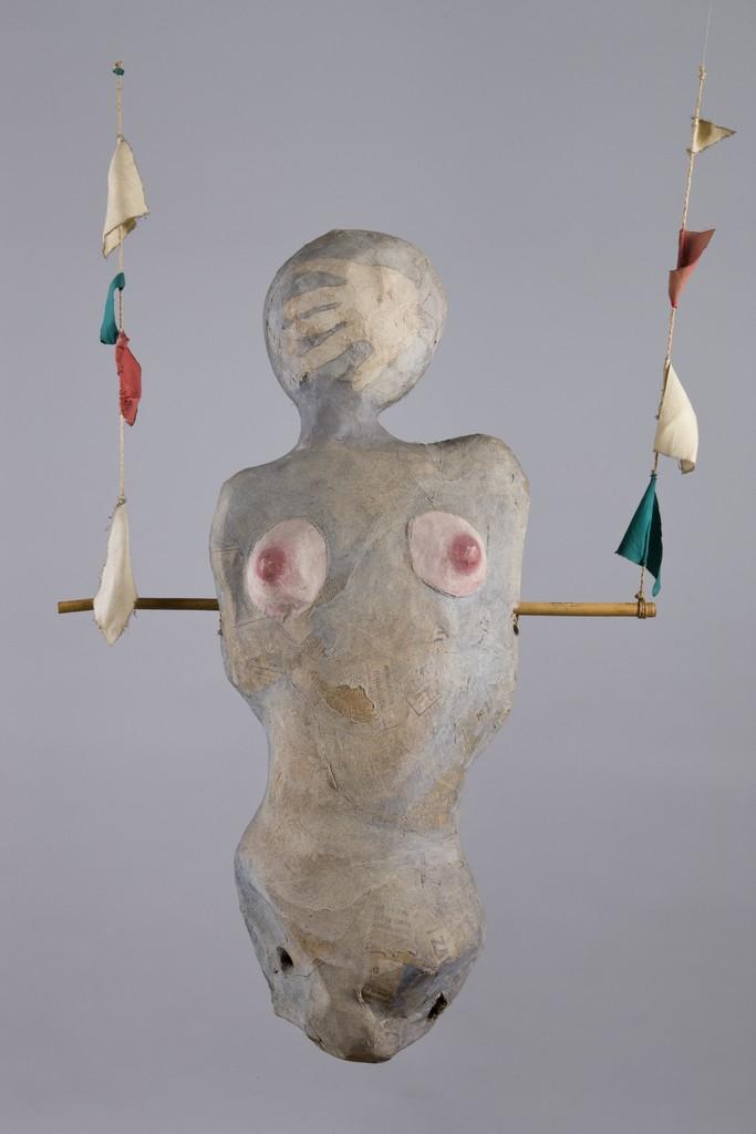"""Maria Pinińska -Bereś, """"Gorset (trapez)"""", wł. Muzeum Narodowe w Krakowie"""
