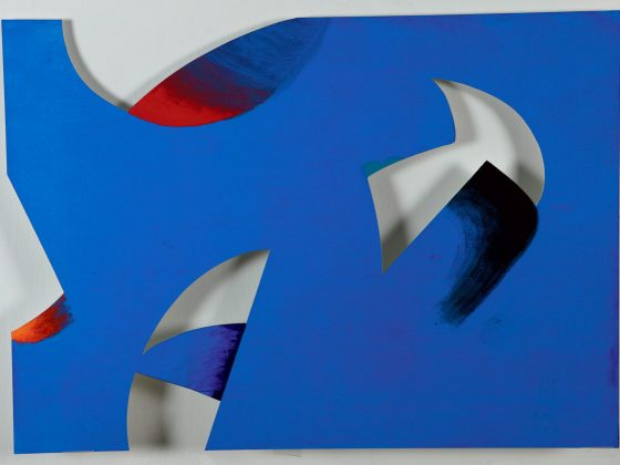 RESZTY 10. 2009, akryl, papier, 50 × 70 cm