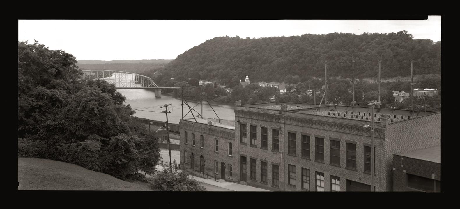 """Cykl """"Panoramiczny dziennik podróżny"""": """"Brownsville, Pennsylvania, 2007"""", fot. Andrzej Jerzy Lech"""