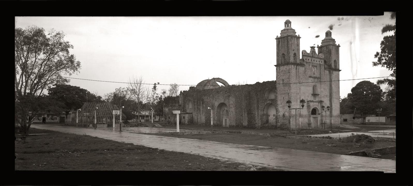 """Cykl """"Panoramiczny dziennik podróżny"""": """"Saban, Quintana Roo, Mexico, 2007"""", fot. Andrzej Jerzy Lech"""