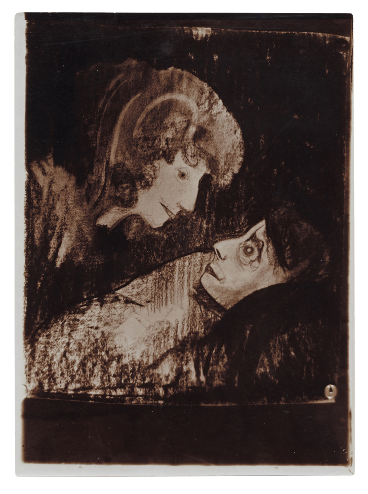 Stanisław Ignacy Witkiewicz, Bungo w upadku, reprodukcja rysunku,1908-1910 (dzięki uprzejmości Stefana Okołowicza)