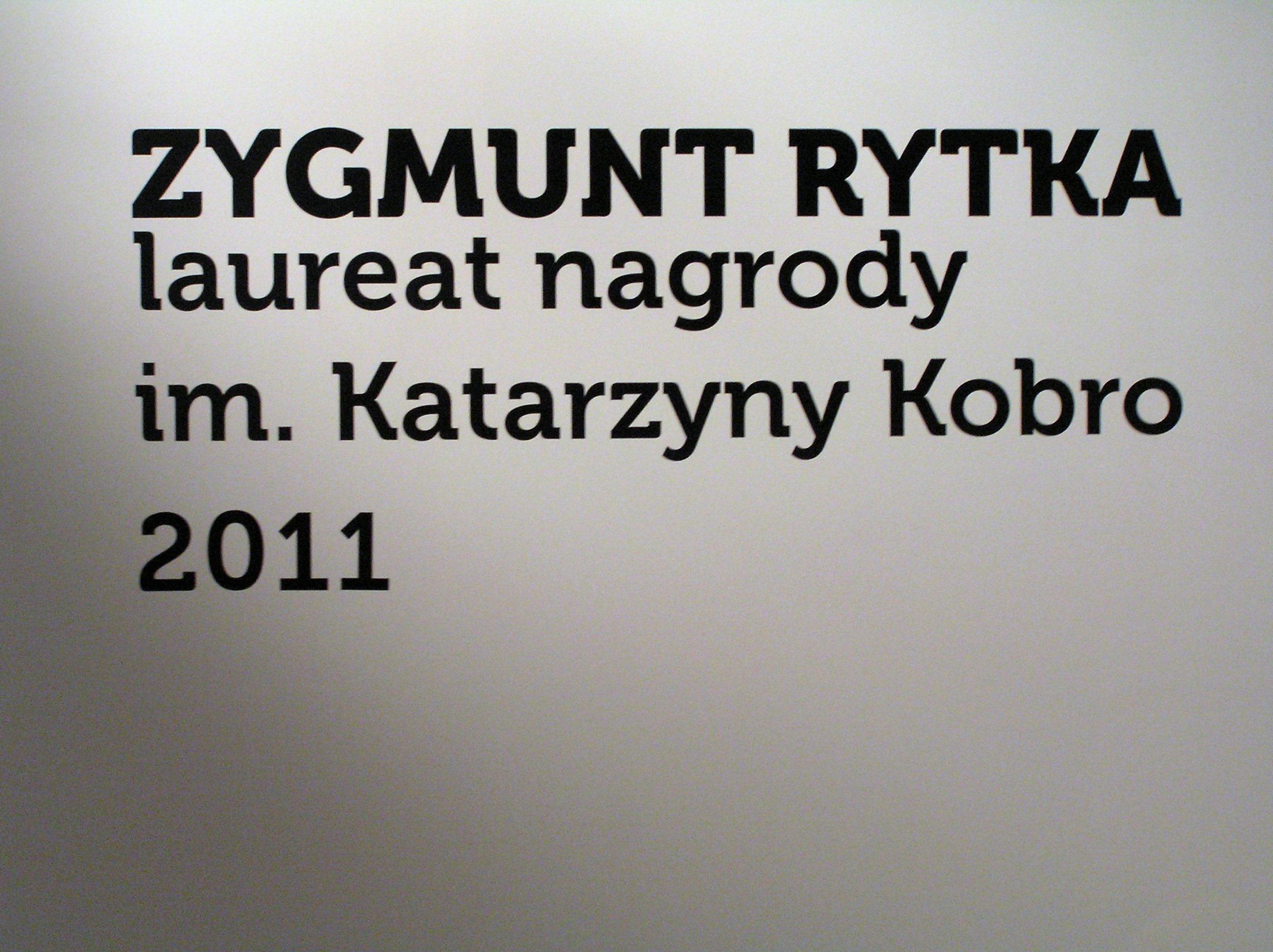 Zygmunt Rytka, Laureat nagrody im. Katarzyny Kobro, fot. K. Jurecki