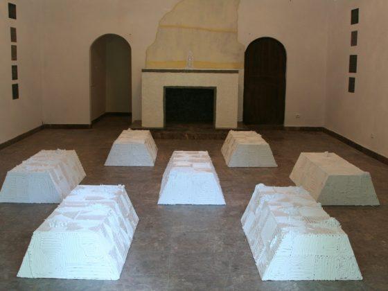 Projekt Uwe Schloena w Galerii Kaplica Centrum Rzeźby Polskiej w Orońsku (źródło: materiały Kwartalnika Rzeźby Orońsko)