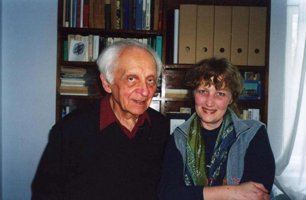 Mieczysław Porębski i Krystyna Czerni, Ustroń 2001, fot.Władysław Pluta