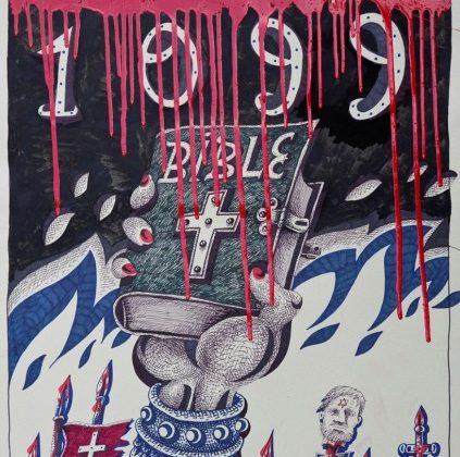 """Tara (von Neudorf) """"1099"""", 70×50 cm, 2008; ze zbiorów Anaid Art Gallery (źródło: materiały prasowe)"""