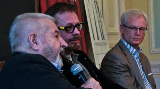 Janusz Majewski, Tomasz Raczek, Eugeniusz Korin, fot. Bartosz Wróblewski (źródło: materiały autora tekstu)