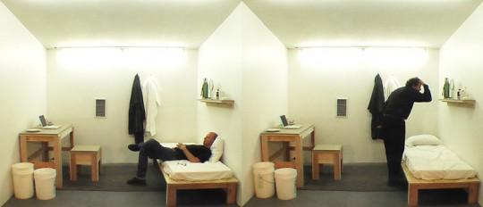 """MTAA, """"OneYearPerformanceVideo"""" (aka """"SamHsiehUpdate""""), 2004, (źrodło: materiały prasowe artystów/dzięki uprzejmości autorki)"""