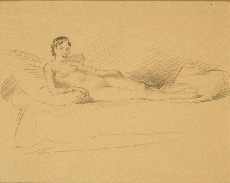 """Bruno Schulz, """"Akt"""" (1933), Kolekcja Grażyny Kulczyk (źródło: materiały prasowe organizatora)"""