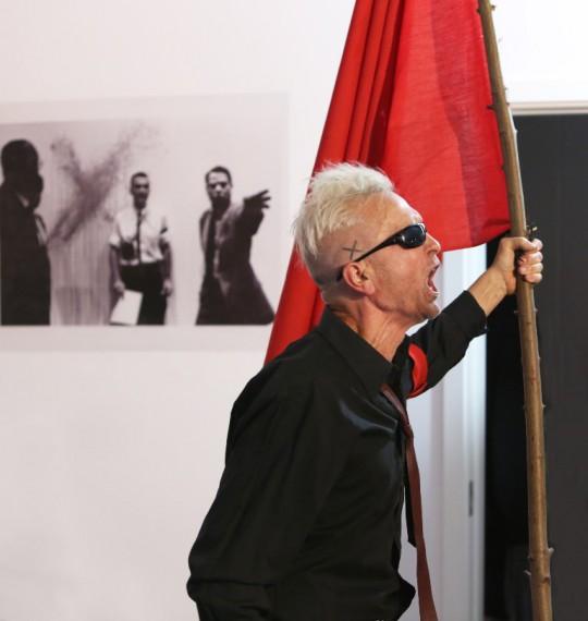 """Wystawa """"Istvan Kantor. Media Revolt"""" w DH Renoma we Wrocławiu, 2014, fot. Marcin Maziej (źródło: dzięki uprzejmości organizatorów)"""