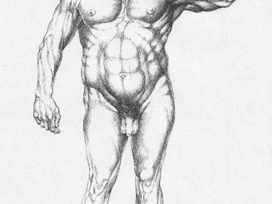 """Antoni Chodorowski, """"Lech Wałęsa"""", rysunek, 1984, fot. archiwum A. Hołowni (źródło: materiały Kwartalnika Artluk)"""
