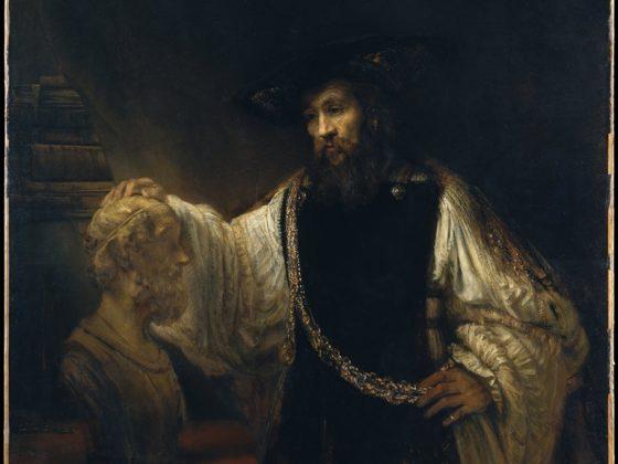 """Rembrandt van Rijn, """"Arystoteles z popiersiem Homera"""", 1653, Metropolitan Museum of Art (źródło: Wikimedia Commons)"""