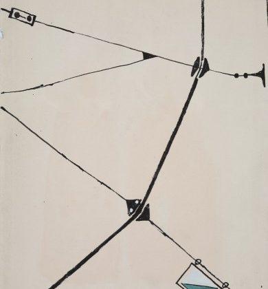 """Andrzej Wajda, """"Kompozycja"""", 1948 (źródło: materiały prasowe Muzeum)"""