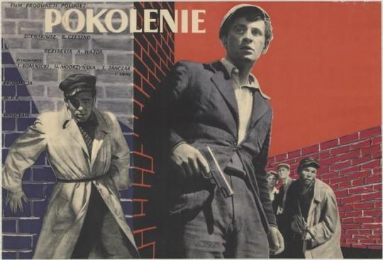 """Plakat do filmu """"Pokolenie"""", aut. Zygmunt Żurowski, Polska, 1954 (źródło: Archiwum Muzeum Kinematografii w Łodzi, dzięki uprzejmości Muzeum)"""