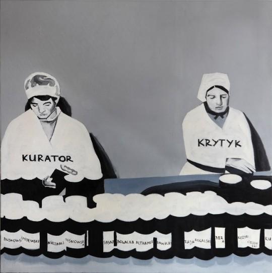 """Whielki Krasnal. The Krasnals, """"Fabryka marzeń"""", 2008, olej, płótno, 110x110 cm, fot. The Krasnals (źródło: dzięki uprzejmości autora)"""