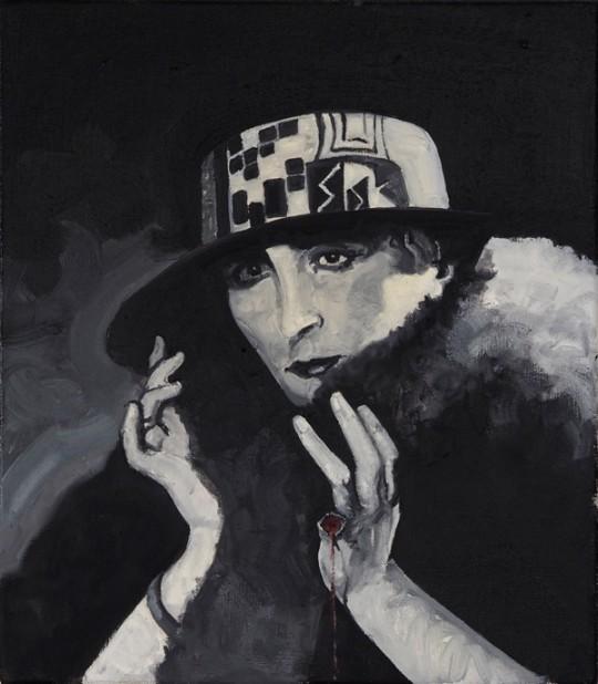 """Whielki Krasnal. The Krasnals, """"Rose Sélavy"""", z cyklu """"GoodFellas"""", 2014, olej, płótno, 40x35 cm, fot. The Krasnals (źródło: dzięki uprzejmości autora)"""