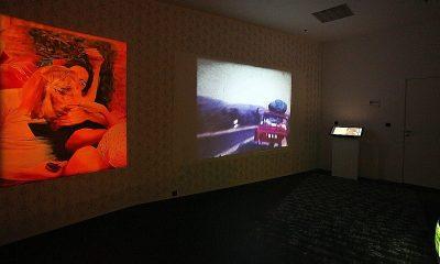 """Agata Kuś, """"Zaginione wina pozostałego przy życiu"""", fot. Mirosław E. Koch, wystawa """"Rysopis"""", WRO Art Center & Griffin Art Space (źródło: materiały prasowe organizatora)"""