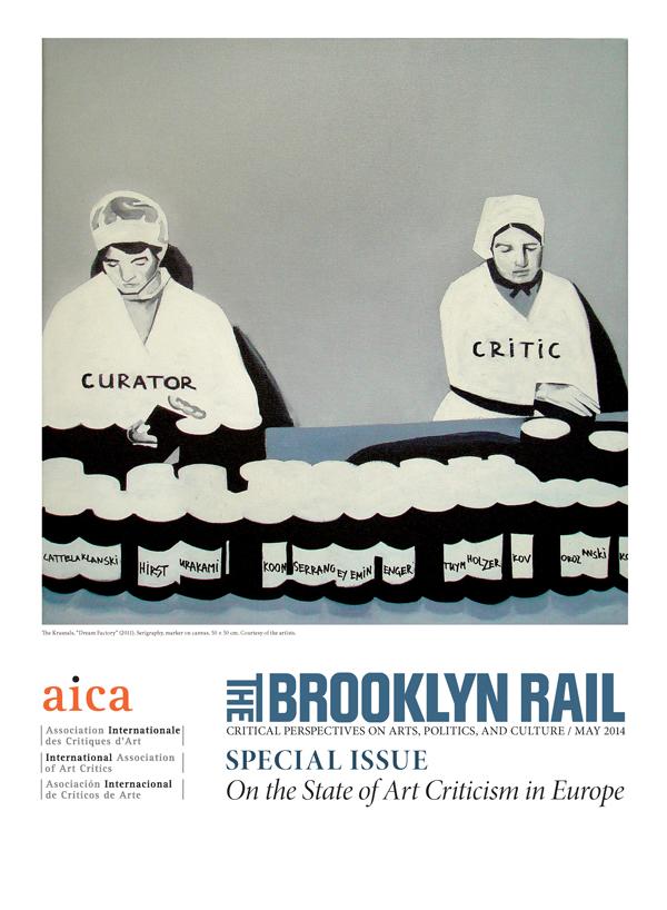 """""""Dream Factory"""", The Krasnals na okładce magazynu """"Brooklyn Rail"""", wydanie specjalne - AICA, maj 2014 (źródło: dzięki uprzejmości autora)"""