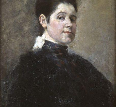 """Olga Boznańska, """"Autoportret"""", 1888, wł. Muzeum Uniwersytetu Jagiellońskiego Collegium Maius; wystawa """"Olga Boznańska (1865-1940)"""", Muzeum Narodowe w Krakowie, 2014 (źródło: dzięki uprzejmości Muzeum Narodowego w Krakowie)"""