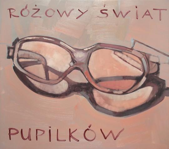 """Whielki Krasnal, """"Różowy świat pupilków - według Tuymansa"""", 2008, olej, płótno, 74x84 cm, fot. The Krasnals (źródło: dzięki uprzejmości autora)"""