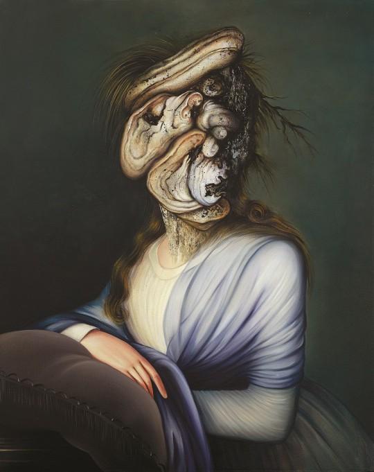 """Ewa Juszkiewicz, """"Portret damy"""", 2013, olej / płótno, 92×73 cm, dzięki uprzejmości E. Juszkiewicz (źródło: materiały organizatorów)"""