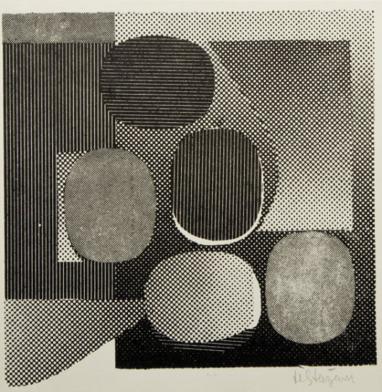 """Henryk Stażewski, """"Studium reliefu"""", 1963, własność prywatna (źródło: materiały prasowe Mazowieckiego Centrum Sztuki Współczesnej Elektrownia)"""