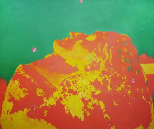 """Michał Zawada, """"Siegfriedskopf"""", 2015, olej / płótno, 105 × 125 cm, dzięki uprzejmości M. Zawada (źródło: materiały organizatorów)"""