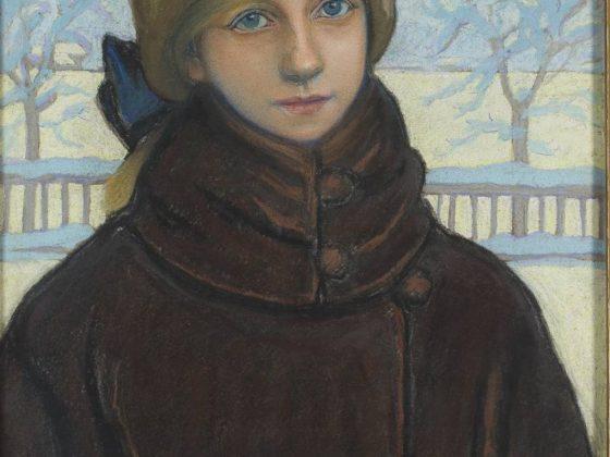 """Jan Rembowski, """"Portret Kazimiery Nehring"""", 1922 (źródło: materiały prasowe organizatora)"""