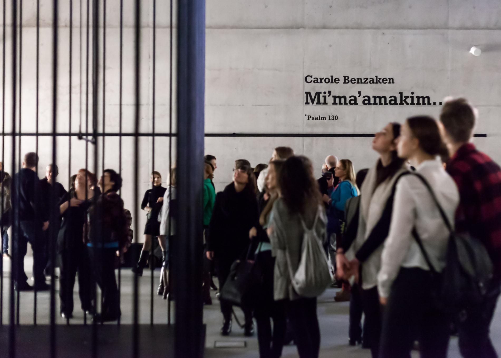 """Muzeum Śląskie w Katowicach: """"Carole Benzaken, Mi'ma'amakim... *Psalm 130"""", kurator: Marek Zieliński, 06.02.-31.07.2016 r. (źródło: dzięki uprzejmości organizatora)"""