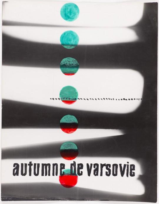 """Wojciech Zamecznik, studium do projektu plakatu Międzynarodowego Festiwalu Muzyki Współczesnej """"Warszawska Jesień"""", 1962, © J. i S. Zamecznik / Fundacja Archeologia Fotografii"""