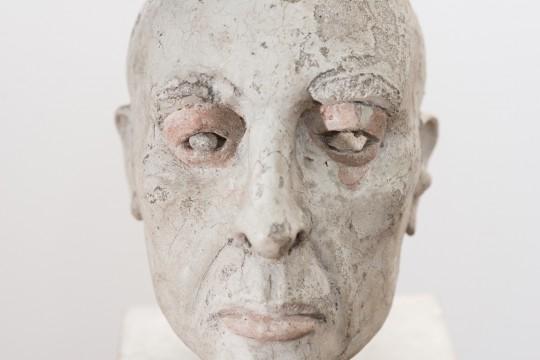 """Mirosław Bałka, """"Gombrowicz. The Head"""", 1985, wystawa """"Nerw. Konstrukcja"""", MS w Łodzi, 2016 (źródło: materiały prasowe organizatora)"""
