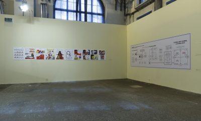 """Widok wystawy """"Nowe ilustracje"""", Galeria Arsenał elektrownia, 2016, fot. Maciej Zaniewski (źródło: dzięki uprzejmości organizatora)"""