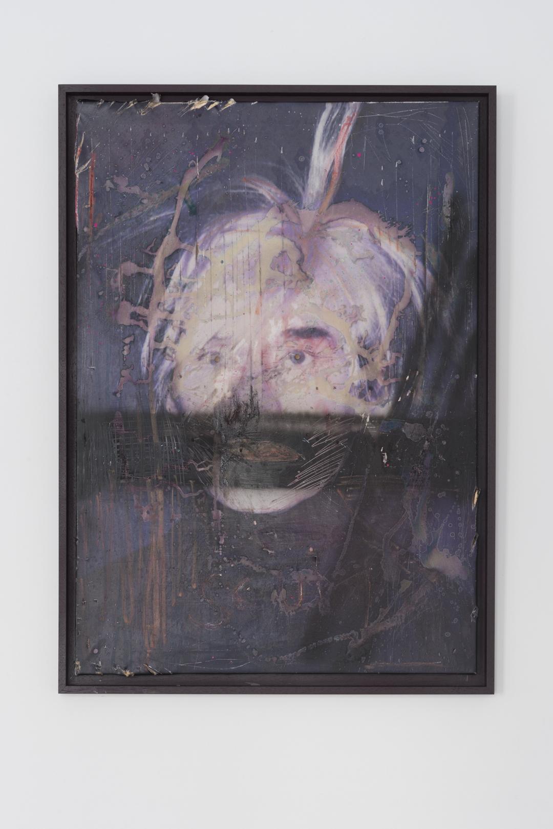 Andy Warhol, Autoportret, 2016, wydruk na płótnie, tech. własna, 100 x 70 cm, fot. Tytus Szabelski (źródło: dzięki uprzejmości organizatora)