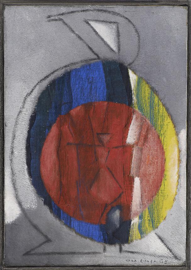 L'oiseau soleil (Słoneczny ptak), 1955, Olej na płótnie, 27 x 19 cm Max Ernst Museum Brühl des LVR, Schneppenheim-Stiftung , © Adagp, Paris 2016 (źródło: materiały prasowe organizatora)