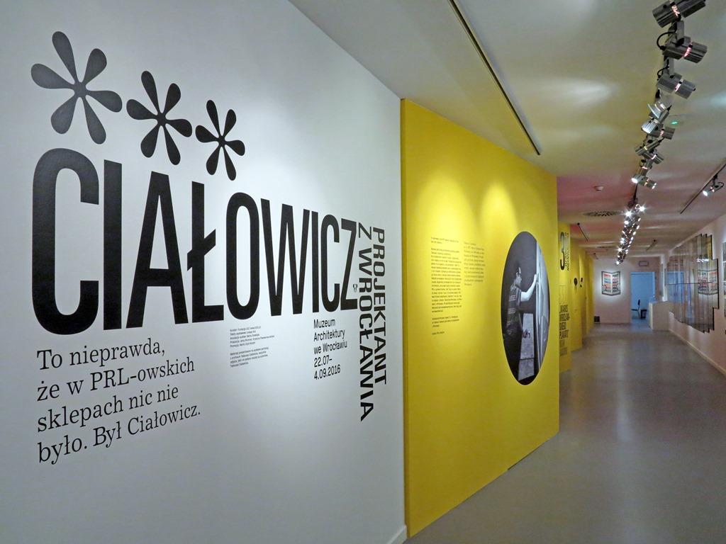"""""""Ciałowicz. Projektant z Wrocławia"""", Muzeum Architektury we Wrocławiu, 2016, fot. Mirosław Łanowiecki (źródło: dzięki uprzejmości organizatora)"""