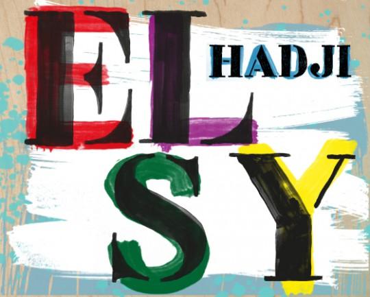 """El Hadji Sy, """"At first I thought I was dancing"""" / """"Na początku myślałem, że tańczę"""". Projekt plakatu do wystawy: Jakub Stępień / HAKOBO (źródło: materiały prasowe)"""