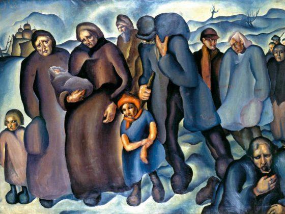 """Konštantín Bauer, """"Uchodźcy"""", 1927, olej, płótno, Východoslovenská galéria Košice (źródło: mat. prasowe organizatora)"""