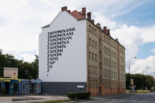 """Mural """"Zapominanie"""", fot. Małgorzata Kujda (źródło: dzięki uprzejmości organizatora)"""