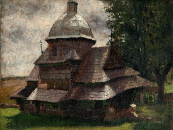 """Soter Jaxa-Małachowski, """"Cerkiew w Kimirzu"""", 1899 (źródło: dzięki uprzejmości autorki)"""