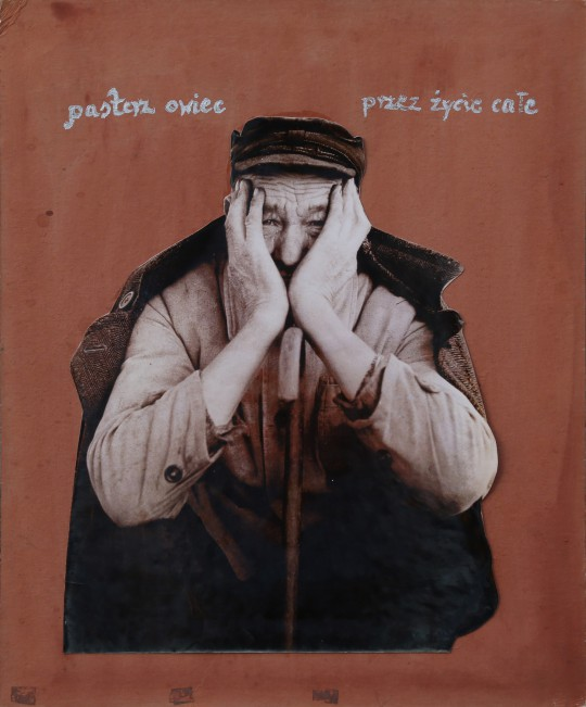"""Michał Kokot, """"Pasterz owiec przez całe życie"""", 1969 (źródło: materiały prasowe Galerii Wozownia)"""