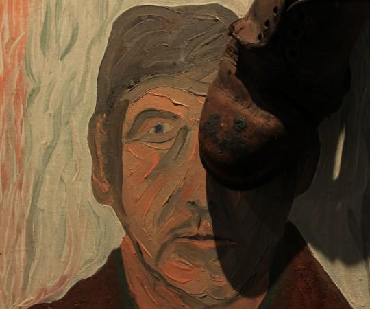 """Michał Kokot, """"Autoportret"""", 1969, wł. M. Kokot, fot. K. Napiórkowski (źródło: dzięki uprzejmości Galerii Wozownia)"""