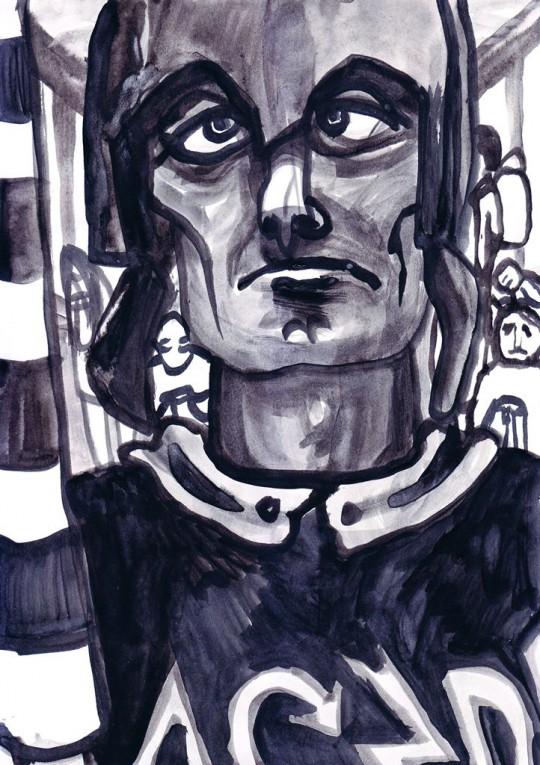 """Zofia Gramz, """"Rycerz w tramwaju"""" (źródło: dzięki uprzejmości organizatora)"""