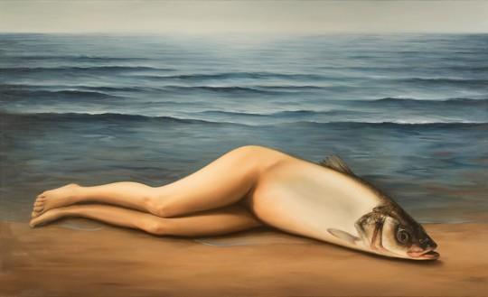 """Ewa Juszkiewicz, Bez tytułu (według René Magritte'a """"Kolektywny wynalazek""""), 2017. Fot. Jakub Mozolewski (źródło: materiały prasowe organizatora)"""