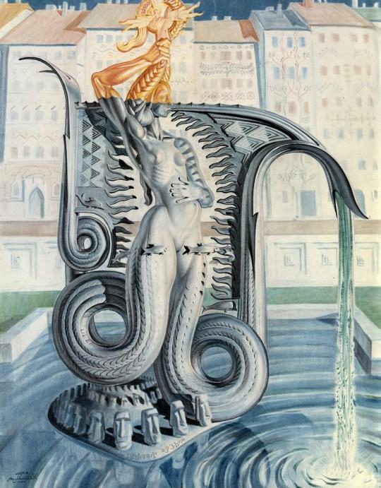 Stanisław Szukalski, Projekt fontanny na Rynku Starego Miasta w Warszawie, 1954. Archives Szukalski: Glenn Bray i Leny Zwalve, Los Angeles (źródło: materiały prasowe organizatora)