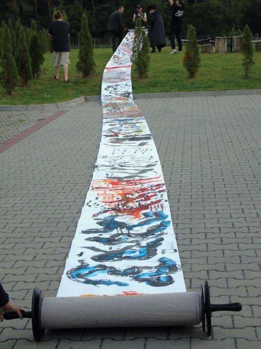 Tora Artura Żmijewskiego i Pawła Althamera, Kielce 2016, fot. A. Podsiadły (źródło: materiały Kwartalnika Rzeźby OROŃSKO)