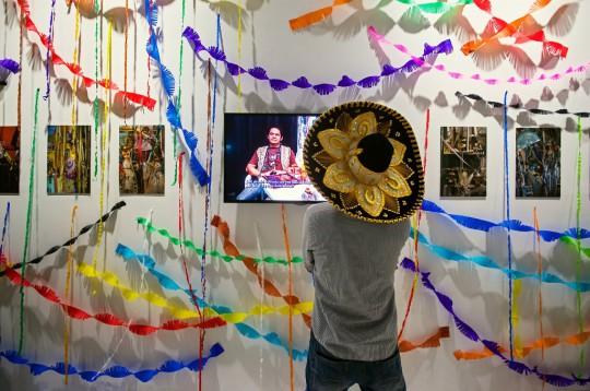 """Wystawa """"Santa Muerte. Lucha Libre"""", Centrum Sztuki Współczesnej Łaźnia w Gdańsku, 2017, fot. Adam Bogdan (źródło: dzięki uprzejmości organizatora)"""