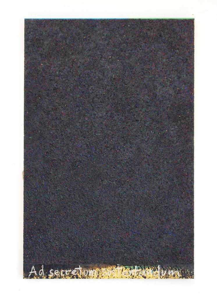"""Sławomir Marzec, """"Obraz na podtrzymanie tajemnicy"""", 130 x 85 cm, 2017 (źródło: dzięki uprzejmości artysty)"""